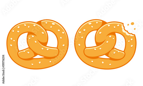 Fotografía Soft pretzel illustration