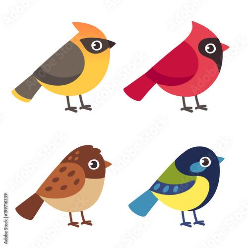 Valokuvatapetti Little birds set