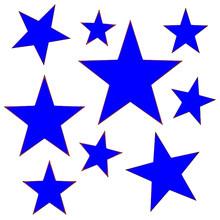 Blue Decorative Stars