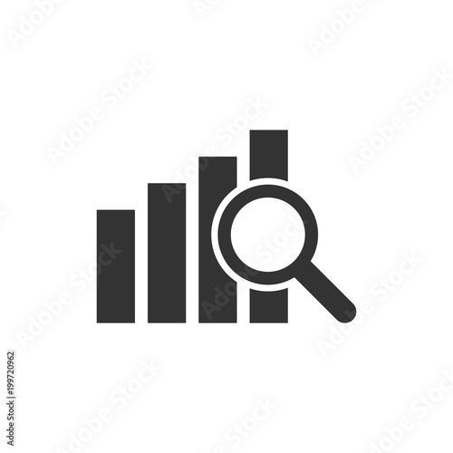 Cuadros en Lienzo Financial forecast icon in flat style