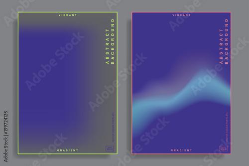 Obraz na plátně design templates with vibrant gradient shapes