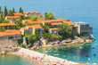 The island of Sveti Stefan. Europe. Montenegro