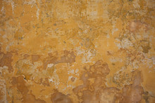 Weathered Yellow Painted Wall ...