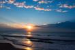 Sunrise over the Atlantic near Garden City, SC as hurricane Jose approaches the coast