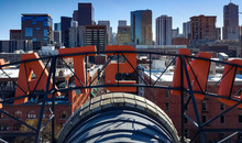 Denver, Colorado Downtown Skyline From The Roof Of Union Station