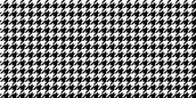Monochrome Black & White Seamless Houndstooth Pattern Background. Traditional Arab Texture. Fabric Textile Material.
