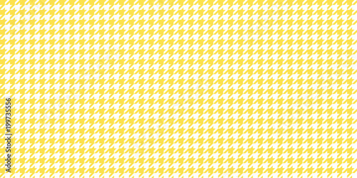 Photo  Yellow Seamless Houndstooth Pattern Background