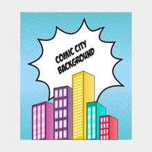 Comic Background City