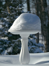 Snow Covered Round Plastic Bir...