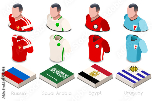 new product 87ef9 3ee14 World Cup Group A Jersey Set - Buy this stock vector and ...
