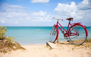 Paysage de Bretagne, vélo e...