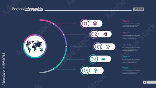 Five Steps Slide Template