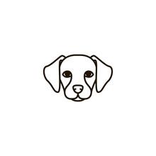 Dog Icon. Sign Design