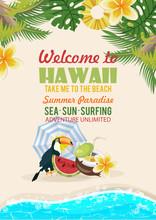 Hawaii Vector Travel Illustrat...