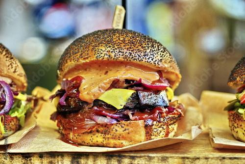 vegan vegetarian burger © Iliya Mitskavets