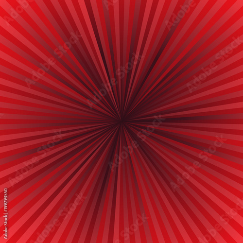 Red abstract retro explosion background - vector illustration with ...