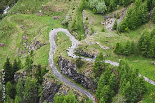 Fényképezés  Perfect landscape mountain road in valle maggia