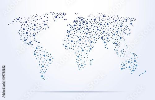 Plakaty kula ziemska - drukowane na wymiar mapa-swiata-z-kropek