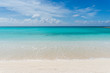 Heavenly beach with crystalline water and white sand in the Caribbean Sea.
