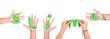 Leinwanddruck Bild - Letters of green slime on a white background