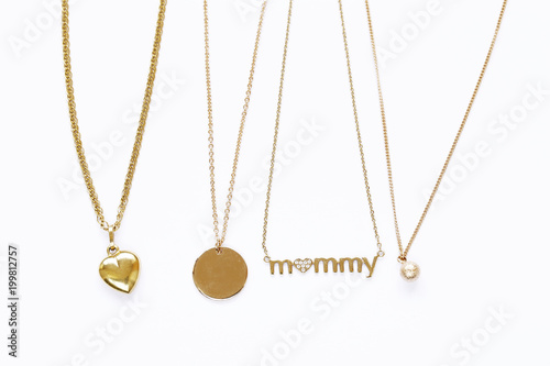 gold chains necklaces with pendants Canvas