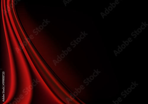 Vector Realistic Background Of Dark Red Silk Fabric Photorealistic Ilration Design For Decoration