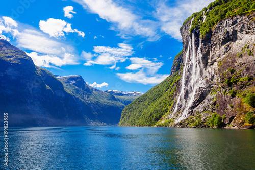 Geiranger w Geirangerfjord w Norwegii