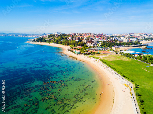 Cadres-photo bureau Europe du Nord Santander city beach aerial view
