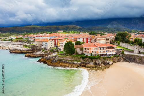 Llanes beach aerial view, Spain