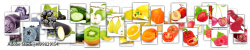 Aluminium Prints Fresh vegetables Fruit and Vegetable Mix