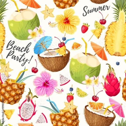 lato-bezszwowe-tlo-koktajl