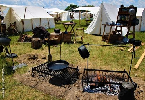 Fotografie, Obraz  Civil War Campsite