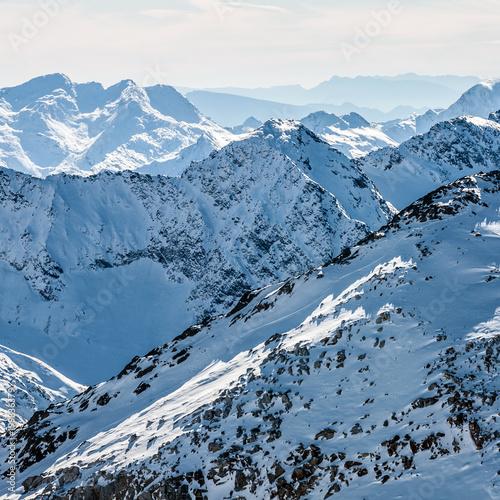 Tuinposter Alpen Alps mountains range, Austria, Stubai