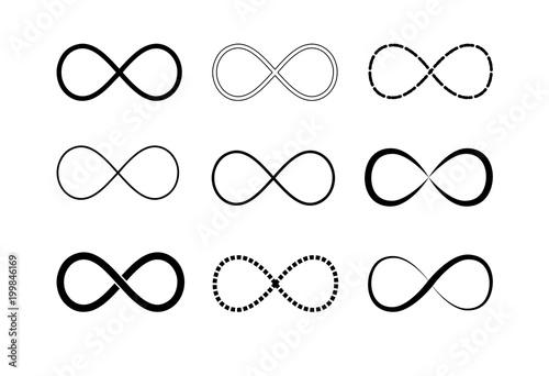 Fotografie, Obraz  Infinity symbol logos set