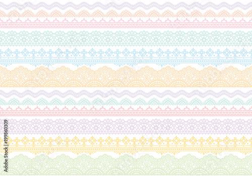 刺繍レース カラフル 背景 Fototapete