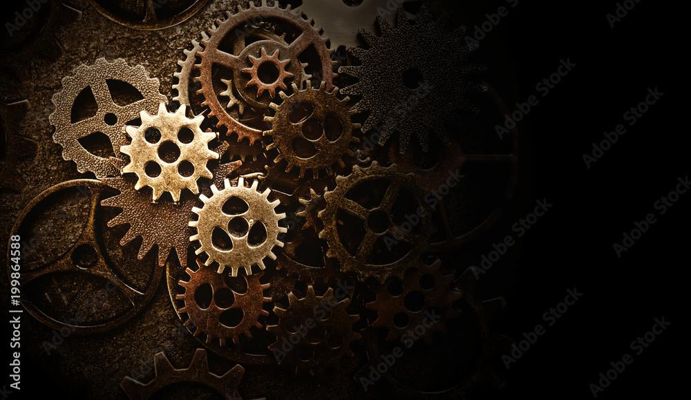 Fototapeta Assorted old gears