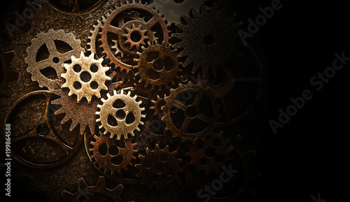 Assorted old gears Canvas Print
