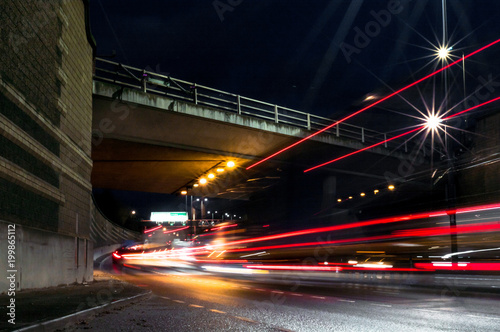 Photo  Long exposure light trail photography London