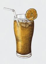 Hand-drawn Lemon Iced Tea