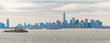 Panorama of New York Skyline on a Cloudy Day