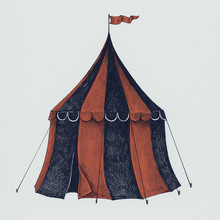 Hand Drawn Circus Tent Isolate...