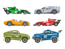Sport Race Car Vector Speed Au...