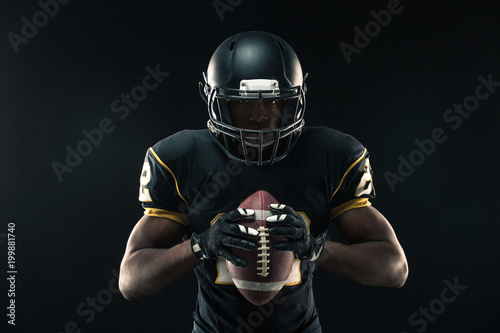 Canvastavla  African American football player.