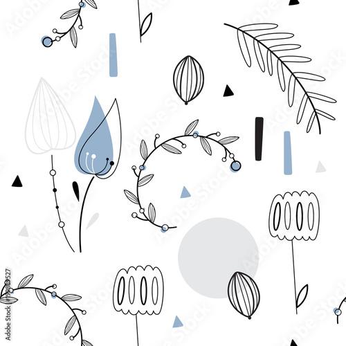 ozdobny-wzor-w-kwiaty-styl-skandynawski-rosliny-z-niebieskimi-akcentami