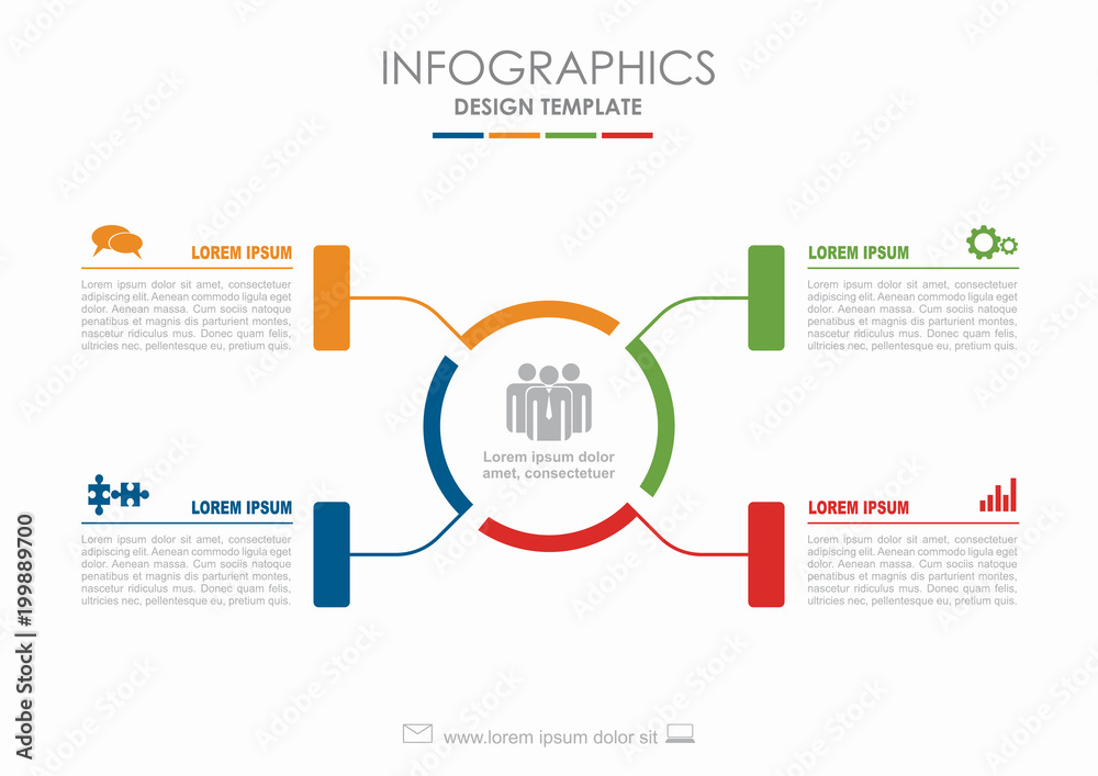 Fototapeta Infographic template. Vector illustration. Can be used for workflow layout, diagram, business step options, banner.