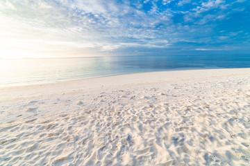 Fototapeta na wymiar Summer sea sand sky and summer day beach