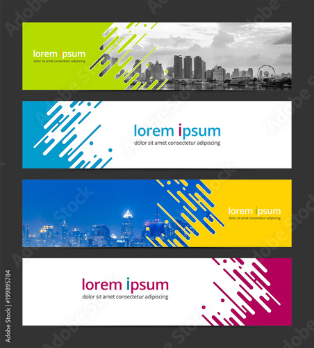abstract background banner design template corporate business web