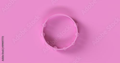 Fotografie, Obraz Pink Tambourine 3d illustration