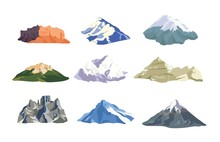 Collection Of Mountain Peaks A...