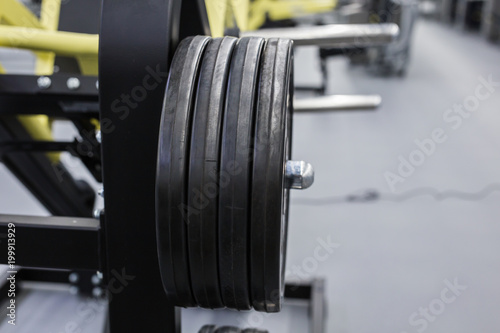 Aluminium Prints F1 Modern gym. and sports equipment.